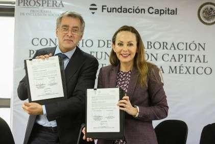Firma de convenio de colaboración PROSPERA-Fundación Capital para el proyecto Lista México