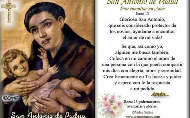 TRADICIONES DEL DÍA DE SAN ANTONIO DE PADUA, TAMBIÉN LLAMADO, EL SANTO DEL AMOR