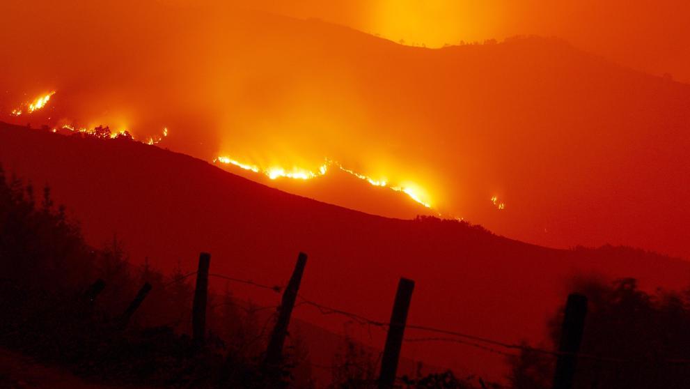 Incendios en Galicia, Castilla-León, Asturias y Portugal